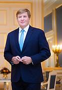 Koning Willem-Alexander ontvangt Janos Ader, de president van de republiek Hongarije op Paleis Noordeinde. <br /> <br /> King Willem-Alexander receives Janos Ader, the president of the Republic of Hungary at Noordeinde Palace.