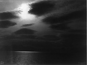 View across large body of water, taken on the Harriman Alaska expedion,1899.  Photograph by Edward Curtis (1868-1952).