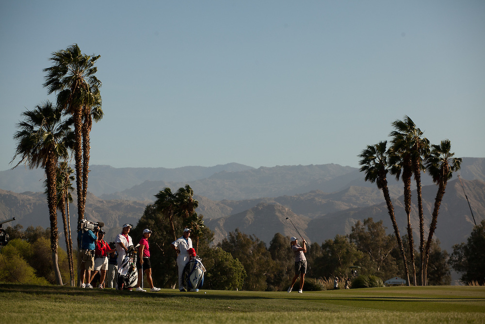 RANCHO MIRAGE, CA - APRIL 3:  Stacy Lewis plays a shot during the final round of the 2011 Kraft Nabisco Championship at Mission Hills Country Club in Rancho Mirage, California on April 3, 2011. (Photograph ©2011 Darren Carroll) *** Local Caption *** Stacy Lewis