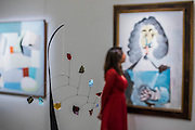 ALEXANDER CALDER Untitled, circa 194 Estimate $3,000,000-4,000,000 in front of PABLO PICASSO Mousquetaire Painted in 1967. Estimate US$ 5,000,000- Sotheby's previews New York sales of Impressionist, Modern and Contemporary Art.   London Exhibition Dates 9- 13 April 2016, New York Sale Dates Impressionist & Modern Art Evening Sale: 9 May 2016 and Contemporary Art Evening Auction: 11 May 2016