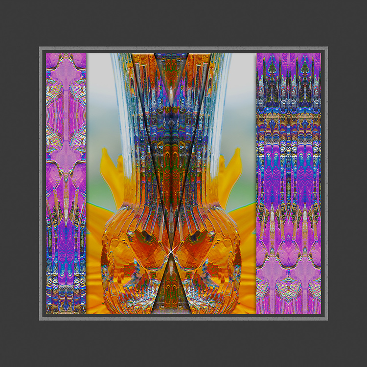 """""""Methow Spring Vase"""", derivative image from a photo of a flower vase, May, private residence, Methow River Valley, Okanogan County, Washington, USA"""