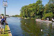 Henley on Thames, England, United Kingdom, 3rd July 2019, Henley Royal Regatta  start 2n Henley Reach, [© Peter SPURRIER/Intersport Image]<br /> <br /> 09:19:40 1919 - 2019, Royal Henley Peace Regatta Centenary,