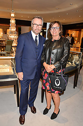 BRIAN DUFFY CEO of Mappin & Webb and the HON.ROSA MONCKTON at a party to celebrate the opening of Mappin & Webb's Flagship Regent Street Boutique at 132 Regent Street, London on 28th June 2016.