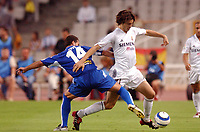 Fotball<br /> Spania 2004/05<br /> Espanyol v Real Madrid<br /> 18. september 2004<br /> Foto: Digitalsport<br /> NORWAY ONLY<br /> SANTIAGO SOLARI (REAL) / ITO (ESP)