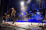 """WASHINGTON, DC - March 7, 2015 - Hozier (second from left) performs at the Lincoln Theater in Washington, D.C. His hit song """"Take Me To Church"""" was nominated for Song of the Year at the 2015 Grammys. (Photo by Kyle Gustafson / For The Washington Post)"""