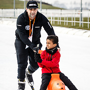 NLD/Biddinghuizen/20160306 - Hollandse 100 Lymphe & Co 2016, kapper Hanni Hanna en Shane Kluivert