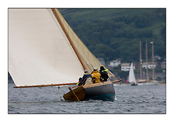 Ayrshire Lass 1887 Gaff Cutter...The Round the Cumbraes race to open the regatta. Light variable breeze and grey skies shrouded the fleet with a strong spectator fleet...* The Fife Yachts are one of the world's most prestigious group of Classic .yachts and this will be the third private regatta following the success of the 98, .and 03 events.  .A pilgrimage to their birthplace of these historic yachts, the 'Stradivarius' of .sail, from Scotland's pre-eminent yacht designer and builder, William Fife III, .on the Clyde 20th -27th June.   . ..More information is available on the website: www.fiferegatta.com . .Press office contact: 01475 689100         Lynda Melvin or Paul Jeffes