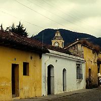 Central America, Guatemala, Antigua. Street scene of Antigua.
