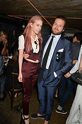 INDIA JAMES and JAMES HARVEY-KELLY at the launch of Geisha at Ramusake hosted by Piers Adam and Marc Burton at Ramusake, 92B Old Brompton Road, London on 11th June 2015.