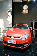 Roewe automaker's new 4-door coupé MG6 car is unveiled during Shanghai Motor Show, in Shanghai, China, on April 20, 2009. Shanghai auto show opened Monday for the press and will be open April 24-28 for the public. China is the only major auto market still growing despite the global economic slowdown. U.S. and global auto makers see China as the place where they can find the sales they desperately lack in their home market. Chinese automakers see the opportunity to assess themselves as major players in the world market. Photo by Lucas Schifres/Pictobank