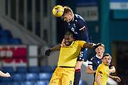 25 Ross County - Coll Donaldson wins header against Jay Emmanuel - Thomas No 9 for Livingston