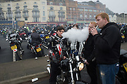 VAPING BIKERS FROM MAIDSTONE, Bikers in Hastings , East Sussex for the May Bank Holiday. 2 May 2016