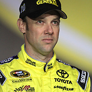 NASCAR Sprint Cup driver Matt Kenseth is seen during the driver introductions prior to the NASCAR Sprint Unlimited Race at Daytona International Speedway on Saturday, February 16, 2013 in Daytona Beach, Florida.  (AP Photo/Alex Menendez)