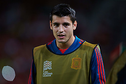 September 11, 2018 - Elche, Alicante, Spain - Alvaro Morata of Spain looks on during the UEFA Nations League football match between Spain and Croatia at Martinez Valero Stadium in Elche on September 11, 2018  (Credit Image: © Sergio Lopez/NurPhoto/ZUMA Press)