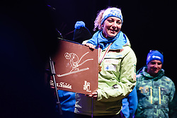 Ilka Stuhec during a home coming parade to celebrate Downhill World Champion Title at the World Ski Championships 2017 in St. Moritz (SUI), on February 19, 2017 in Trg Leona Stuklja, Maribor, Slovenia. Photo by Mario Horvat / Sportida