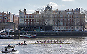 Putney, Great Britain, 24th March 2019, Pre Boat Race Fixture, Goldie, Cambridge University Boat Club vs Oxford Brookes University, Championship Course, River Thames,   England, [Mandatory Credit; Peter Spurrier/Intersport-images],