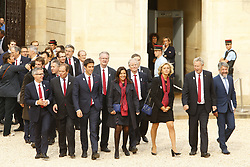 September 15, 2017 - Paris, France, France - Tony Estanguet - Anne Hidalgo - Valerie Pecresse - Guy Drut - Bernard Lapasset - Thierry Rey (Credit Image: © Panoramic via ZUMA Press)