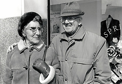 Elderly couple, Nottingham UK 1989