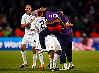 USA players celebrates they win. .  FIFA Confederations Cup South Africa 2009 Semi-Final Spain v United States of America<br />  at Free State Stadium Bloemfontein South Africa<br /> 24/06/2009 Credit Colorsport / Kieran Galvin <br /> <br /> <br /> <br /> <br /> <br /> <br /> <br /> <br />  <br /> <br /> <br /> <br /> <br /> <br /> <br /> <br /> <br /> 17\
