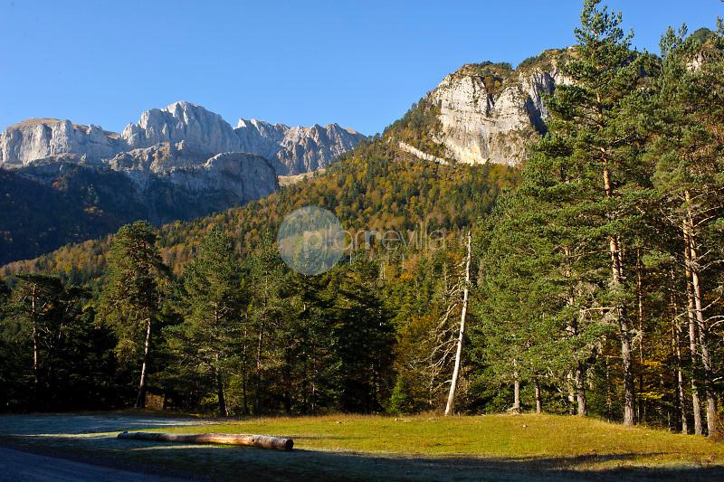 Peña Forca. Valle de Hecho. Parque Natural Valles Occidentales. Pirineos. Huesca.