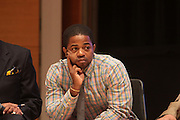 May 19, 2012 -New York, NY-United States:  Chris ' Kazi ' Rolle attends the Question Bridge: Black Male Blue Print Round Table moderated by Dr. Khalil Gibran Muhammad and hosted by Kevin Powell and held at the Iris and B.Gerald Cantor Auditorium in the Brooklyn Museum on May 19, 2012 in Brooklyn, New York. Question Bridge: Black Males is a transmedia art project that seeks to represent and redefine Black male identity in America. Question Bridge: Black Males was created by Chris Johnson and Hank Willis Thomas in collaboration with Bayeté Ross Smith and Kamal Sinclair. The Executive Producers are Delroy Lindo, Deborah Willis and Jesse Williams.  (Photo by Terrence Jennings)