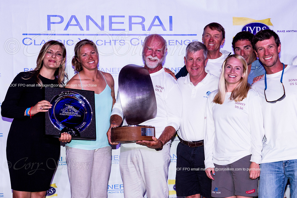 Panerai trophy for team Sonny at the Panerai Classic Yachts Challenge, North American Circuit.