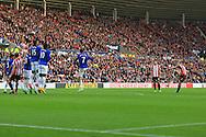 Sebastian Larsson of Sunderland scores the opening goal - Sunderland vs. Everton - Barclay's Premier League - Stadium of Light - Sunderland - 09/11/2014 Pic Philip Oldham/Sportimage