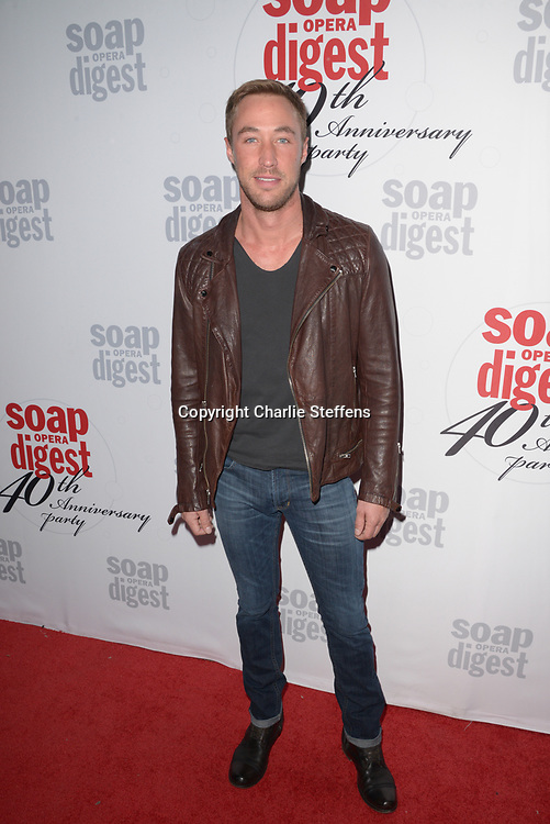 KYLE LOWDER at Soap Opera Digest's 40th Anniversary party at The Argyle Hollywood in Los Angeles, California