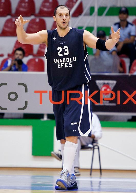 Anadolu Efes's Ermal KURTOGLU during their Turkey Cup Qualifying basketball first match Anadolu Efes between Turk Telekom at Aliaga Arena in Izmir, Turkey, Sunday, October 9, 2011. Photo by TURKPIX