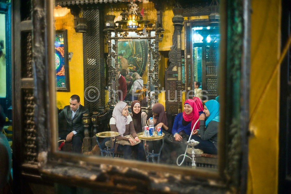 El Fishawi's Coffee house in Khan al-Khalili Cairo, Egypt