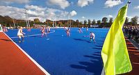 ARNHEM - woensdag bij de hockey-oefeninterland tussen de dames van Nederland en Belgie (3-1)  op het nieuwe blauwe kunstgras van HC Upward in Arnhem. Foto Koen Suyk