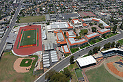 A general view of Jim Arquilla Track and football stadium on the campus of Long Beach Wilson High School, Wednesday, July 8, 2020, in Long Beach, Calif.