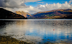 Spring sunshine across Loch Fyne, from the town of Inveraray, Argyle and Bute, Scotland<br /> <br /> (c) Andrew Wilson | Edinburgh Elite media