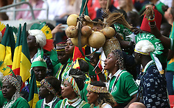 Senegal fans during the game