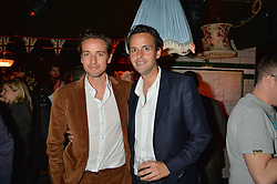 Left to right, ALEX GILKES and CHARLIE GILKES at a party to celebrate the opening of Cahoots - a new nightclub from the Inception Group at 13 Kingly Court, Soho, London on 26th February 2015.