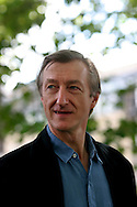 Acclaimed British writer Julian Barnes is pictured at the Edinburgh International Book Festival prior to talking about his work. The Edinburgh International Book Festival is the world's largest literary event, with over 500 authors from across the world participating each year and ran from 13-29 August. Edinburgh was named the world's first UNESCO City of Literature.