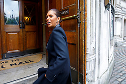 """© Licensed to London News Pictures. 12/05/2017. London, UK. GINA MILLER arrives at """"The Convention"""" event at Westminster Central Hall in London to speak on the impact of Brexit on Friday, 12 May 2017. Photo credit: Tolga Akmen/LNP"""