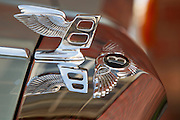 A close-up of the Bentley crest. On location at the classic car clinic, a Crossley & Webb group company Commercial photography commissioned to Beadle Photo by international brands