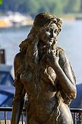 Henley-On-Thames, Berkshire, UK., Wednesday, 12/08/2020, The Henley Ama, Mermaid statue,  [ Mandatory Credit © Peter Spurrier/Intersport Images],