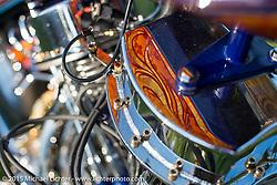 Dalton Walker's custom Bay Area style Harley-Davidson Panhead invited builder custom at Born Free-7 at Oak Canyon Ranch. Silverado, CA, USA. Saturday, June 26, 2015.  Photography ©2015 Michael Lichter.