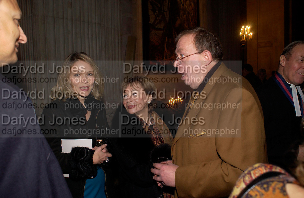 Ludmilla Macher, Alla Chaynyna and Sergei Chepik.  Sergei Chepik: St Paul's Cathedral - opening<br />St Paul's Cathedral, London, EC4, 6.30pmONE TIME USE ONLY - DO NOT ARCHIVE  © Copyright Photograph by Dafydd Jones 66 Stockwell Park Rd. London SW9 0DA Tel 020 7733 0108 www.dafjones.com