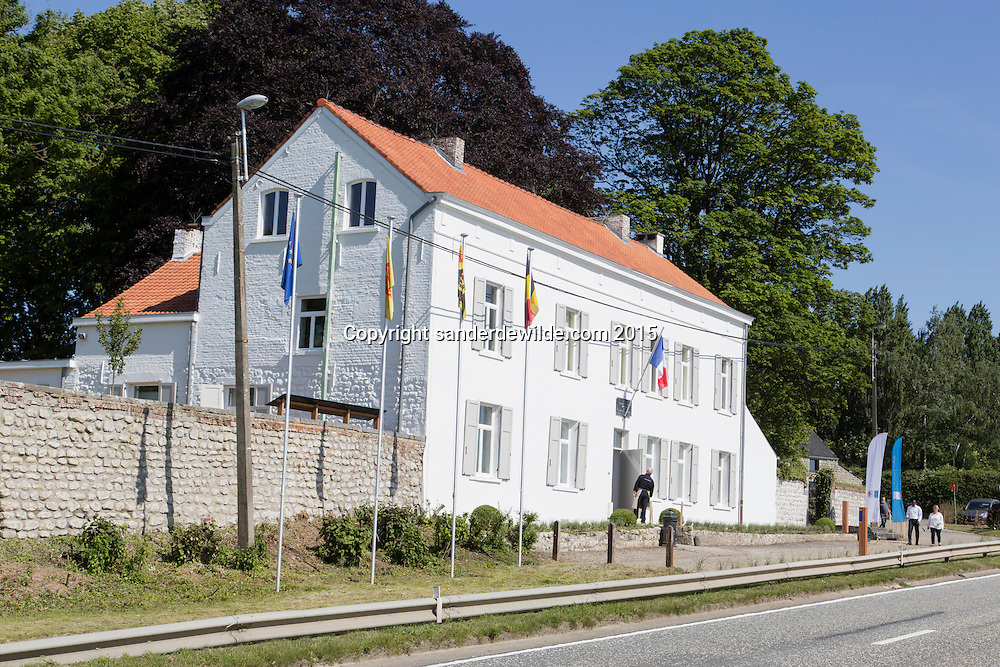 Belgium, Vieux-Genappe near Waterloo on 4th of June 2015. Official reopening of this former  farm, now a museum  where Emperor Napoleon and his staff spent the night of 17th June 1815. The last night before the battle of Waterloo.