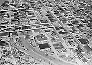 """Ackroyd 08267-2 """"Portland aerial looking north from Hawthorne Ave near Union Ave. April 22, 1958"""" (5x7"""" inner SE Portland)"""