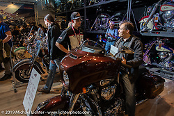 The Indian Motorcycle display at the Swiss-Moto Customizing and Tuning Show. Zurich, Switzerland. Sunday, February 24, 2019. Photography ©2019 Michael Lichter.