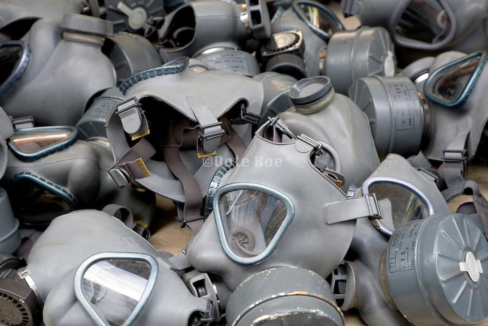 gas masks at a flee market