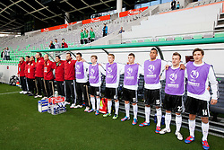 Timo Werner of Germany (#19), Nico Brandenburger of Germany, Maximilian Dittgen of Germany, Kevin Akpoguma of Germany, Felix Lohkemper of Germany and Niklas Stark of Germany during the UEFA European Under-17 Championship Group A match between Iceland and Germany on May 7, 2012 in SRC Stozice, Ljubljana, Slovenia. Germany defeated Iceland 1-0. (Photo by Vid Ponikvar / Sportida.com)