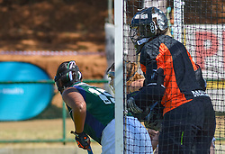Goal keeper Thando Mtlana of Clarendon during day two of the FNB Private Wealth Super 12 Hockey Tournament held at Oranje Meisieskool in Bloemfontein, South Africa on the 7th August 2016, <br /> <br /> Photo by:   Frikkie Kapp / Real Time Images