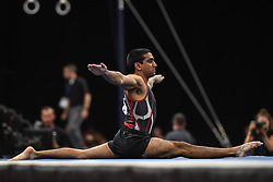 August 18, 2018 - Boston, Massachussetts, U.S - AKASH MODI competes on the floor exercise during the final round of competition held at TD Garden in Boston, Massachusetts. (Credit Image: © Amy Sanderson via ZUMA Wire)