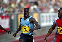 Friidrett, Athletics, IAAF Golden League, ExxonMobil Bislett Games, Arne Haukvik Memorial, 27. juni 2003.  Dwain Chambers