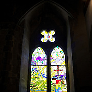 The beautiful stain glass windows in Christ Church Cathedral, the Anglican cathedral in Nelson. The cathedral is located at upper Trafalgar Street. Nelson,  New Zealand,1st February 2010. Photo Tim Clayton